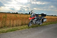 Bearded grass in the Germany countryside #R1200GS