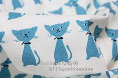 k258  cats  cotton linen fabrics  half Yard by billycottonshop0413, $6.50