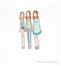 Lizzie Bennet Diaries - fanart by Martina Cecilia, via Behance