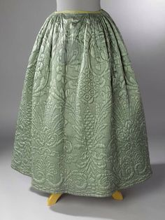 Quilted 18th century petticoat