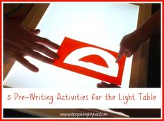 5 Pre-Writing Activities for the Light Table, plus a free lowercase letters template for use on transparencies!