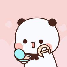 Cute Panda Cartoon, Cute Anime Cat, Cute Cartoon Pictures, Cartoon Pics, Panda Wallpapers, Cute Cartoon Wallpapers, Girl Drawing Sketches, Cute Drawings, Teddy Day
