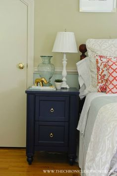 The Chronicles of Home: {Makeover} Navy Blue Nightstand (Dresser)