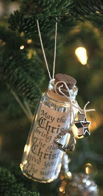 """this """"Christmas wish in a bottle"""" only takes a couple minutes to make"""