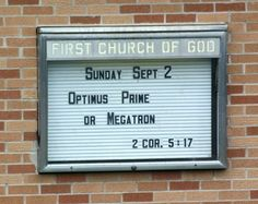 The tough decisions!  (find more funny church signs at funnysigns.net)
