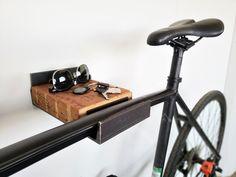 Wall Mount Bike Rack – Vault Furniture Wall Mounted Bike Storage, Wall Mounted Vase, Wall Mount Bike Rack, Bicycle Storage, Bike Mount, Wood Storage, Bike Hanger, Bicycle Rack, Wall Hanger