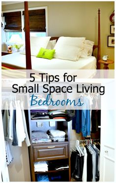 5 useful tips for small space living with bedrooms. www.chatfieldcourt.com