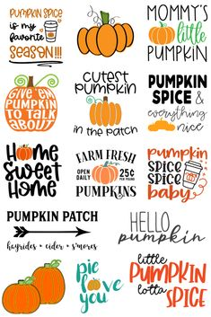 Cute Pumpkin, Baby In Pumpkin, Little Pumpkin, Pumpkin Spice Latte, Cricut Tutorials, Cricut Ideas, Circuit Crafts, Svg Files For Cricut, Cricut Fonts
