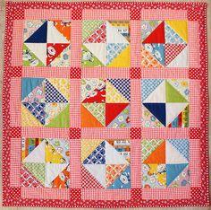 red/ orange mini quilt. by dutch blue, via Flickr