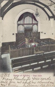 Interior of St George's Cathedral circa 1906 Old Pictures, Old Photos, Vintage Photos, St George's, Cape Town South Africa, Port Elizabeth, Saint George, African History, Old Houses