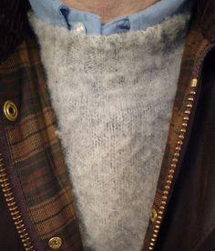 "heavytweedjacket: ""Shaggy Dog, Brooksflannel shirt, & Beaufort jacket. Headed to the mountains. """