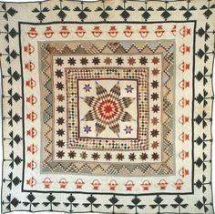 Antique American Center Medallion Quilt