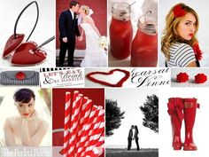 {Stripe Chic}: A Palette of Red, Black   White (Wedding colors!!)