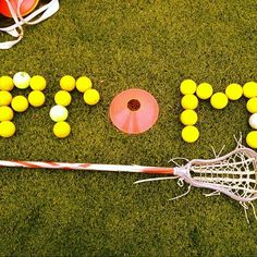 This is how I want to be asked to prom, seriously. Except they should write cute stuff on the lacrosse balls. ;)