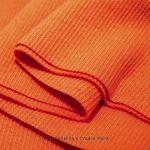 Bündchen-Stoff Orange- feines Ripp-Bündchen in Orange für viele Nähprojekte geeignet