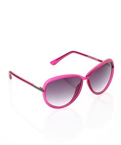 Take a look at this Pink Frosted Frame Sunglasses by Adrienne Vittadini on #zulily today!