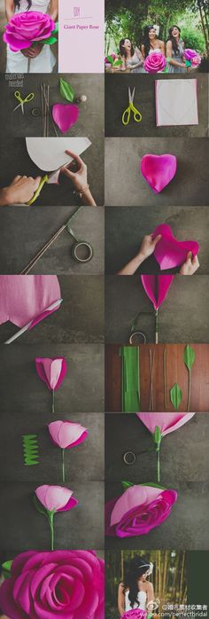 Giant Paper Rose... that's kinda cool. I wanna make one