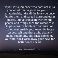 Lessons Learned in Life | Enjoy your life.