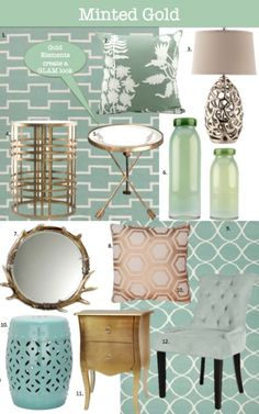 Minted Gold  Modern Spring Colors