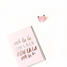 I've got felines for you so let's stop kitten around. 😻 Love our @bonnie_hislop cat pin with our ooh la la card! #catobsessed #blushingconfetti #stationery www.blushingconfetti.com
