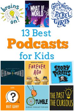Best Children's Book Lists 13 Best Podcasts for Kids - Feminist Books for Kids -- These podcasts are fun and educational for kids of all ages. Enjoy o. Fun Learning, Learning Activities, Teaching Kids, Activities For Kids, Teaching Reading, Learning Spanish, Kids And Parenting, Parenting Hacks, Beste Podcasts