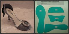 High Heel Shoe Template - Originally for fondant but will probably work with…