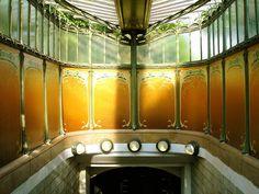 Paris Metro entrance - Port Dauphine