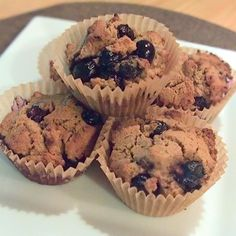 Blueberry Explosion Protein Muffins made with @ottosnaturals Cassava Flour | Jill Mac Nutrition