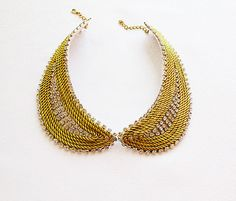 Gold Yellow Collar Necklace Knot Rope  Rhinestone by aynurdereli, $39.00 #women #fashion #accessories #pearl #collar #necklace