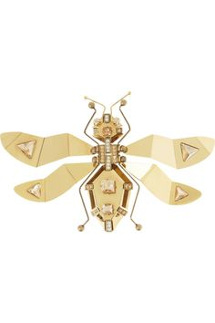 Bug love: Women's 'Luisa' Lanvin gold-tone crystal brooch by Lanvin via @Annette Howard Howard Nokes-a-porter