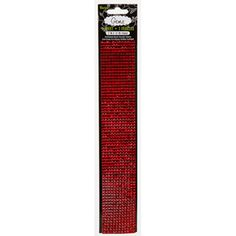 Darice® Red Gemz - Adhesive Backed 4mm Square Craft Gems - 2 x 12 inches