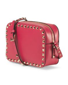 Made In Italy Leather Rockstud Crossbody