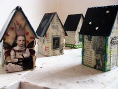Encaustic lighthouses / student work / Stefanie Rubiano