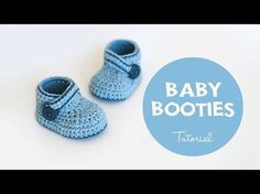 Crochet Baby Booties Pattern Easy DIY Video Tutorial
