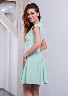 Sweet lilly menthol dress/ słodka miętowa sukienka