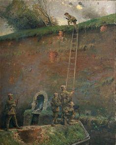 a captura de las murallas de Le Quesnoy. La última acción importante de la guerra por las tropas de Nueva Zelanda fue la captura de Le Quesnoy en Noviembre de 1918, una semana antes del armisticio. Treparon por escaleras colocadas en los antiguas murallas de la vieja ciudad fortaleza y capturaron a los defensores alemanes que quedaban