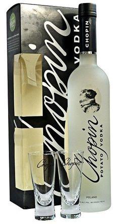 Chopin Vodka Gift Set; A stylish Martini or Shot in our Chopin Gift Set | spiritedgifts.com Gluten Free Liquor, Vodka Potato, Voss Bottle, Water Bottle, Vodka Gifts, Premium Vodka, Wine And Liquor, Martini, Great Gifts