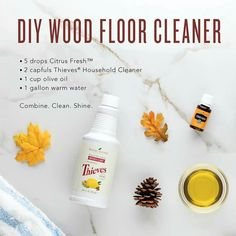 You can make your own DIY nontoxic wood floor cleaner with the power of essential oils. One bottle of Thieves Household Cleaner lasts me forever!
