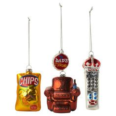 TV Lover Ornament Set Of 3, $14.50, now featured on Fab.