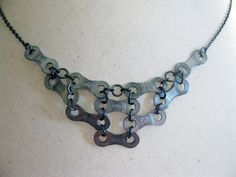 bicycle chain, bicycles, statement necklaces, chains, bicycl chain