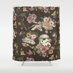 Buy Shower Curtains featuring Botanic Wars by Josh Ln. Made from 100% easy care polyester our designer shower curtains are printed in the USA and feature a 12 button-hole top for simple hanging.