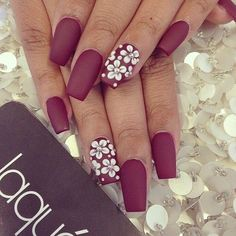Image via We Heart It https://weheartit.com/entry/169546904/via/32497151 #coffin #color #nails #red #square #opi #laque