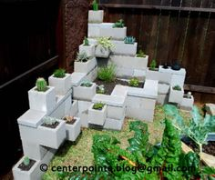 cinder block garden | One year ago, I described an unusual garden I painstakingly designed ...