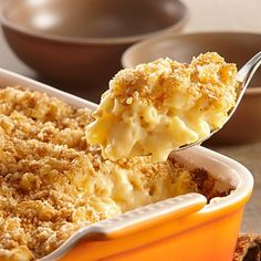 This is America's favorite comfort food – tender macaroni, rich and cheesy sauce and a crisp crumb topping.