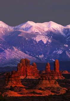 Arches National Park, Utah, United States of America - Sundown.