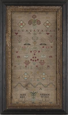 SAMPLER WORKED BY JANE REASON, 1748
