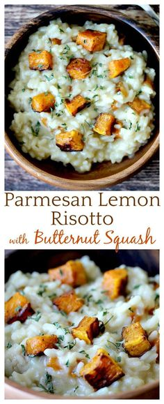 Yum! This Parmesan Lemon Risotto tastes amazing! The zesty lemon and sweet butternut squash go so well together and who knew that risotto could be such an easy recipe to make! The perfect comfort food!