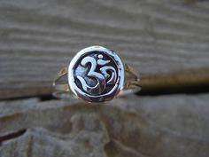 Om ring in sterling silver by Billyrebs on Etsy