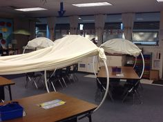 Turn the desks into covered wagons for unit on manifest destiny