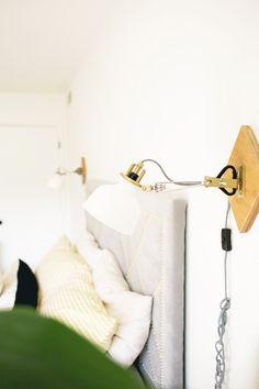 DIY modern geometric wall lamps made of IKEA RANARP lights. Easy and cheap IKEA HACK.